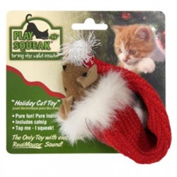 Play-N-Squeak Holiday Stocking Mouse for Cats