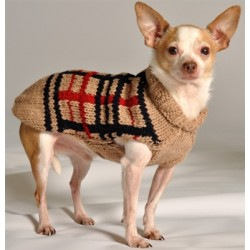 Preppy Tan Plaid Dog Sweater