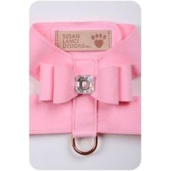 Puppy Pink Big Bow Harness by Susan Lanci