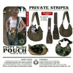 Puppy Sling Pouch - Private Stripes