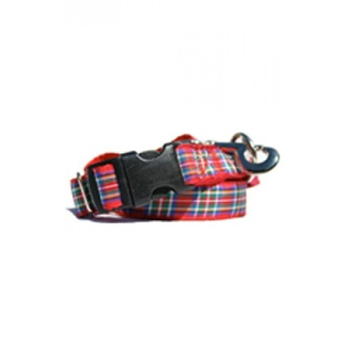 Red & Blue Plaid Collars & Leads
