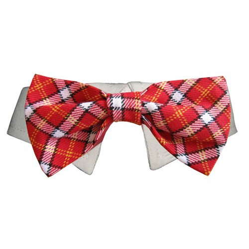 Red Checker Bow Tie for Pups!