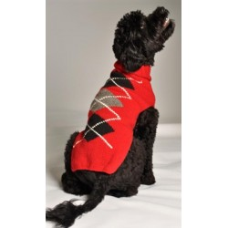 Red Classic Argyle Sweater