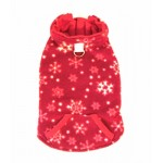 4 in 1 Fleece Dog Hoodie and Vest Combination - Red Snowflake