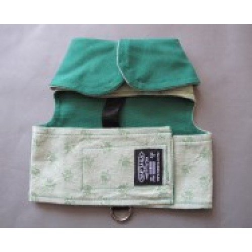 Green Reversible Harness for Dogs