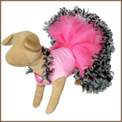 Ruffled Zebra Dog Tutu