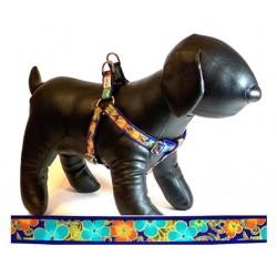 Shalimar Flowers Adjustable Step-in Dog Harness