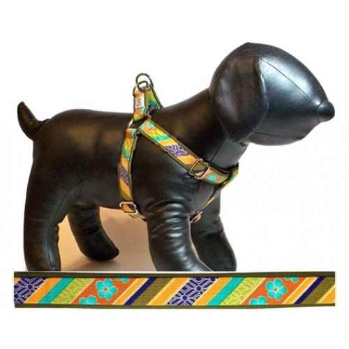 Shalimar Stripe Adjustable Step-in Dog Harness