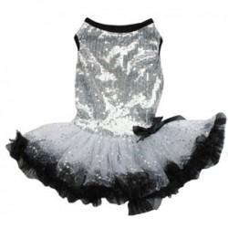 Silver Sparkling Petti Dog Dress