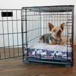 Purple Camo Soft N' Tuff Rectangular Pet Crate Bed