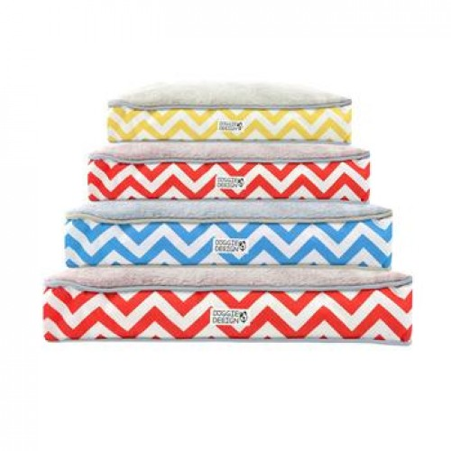 Soft N' Tuff Rectangular Pet Crate Bed - Wave Print