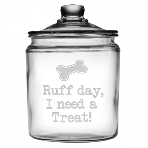 Glass Treat Jar - Ruff Day