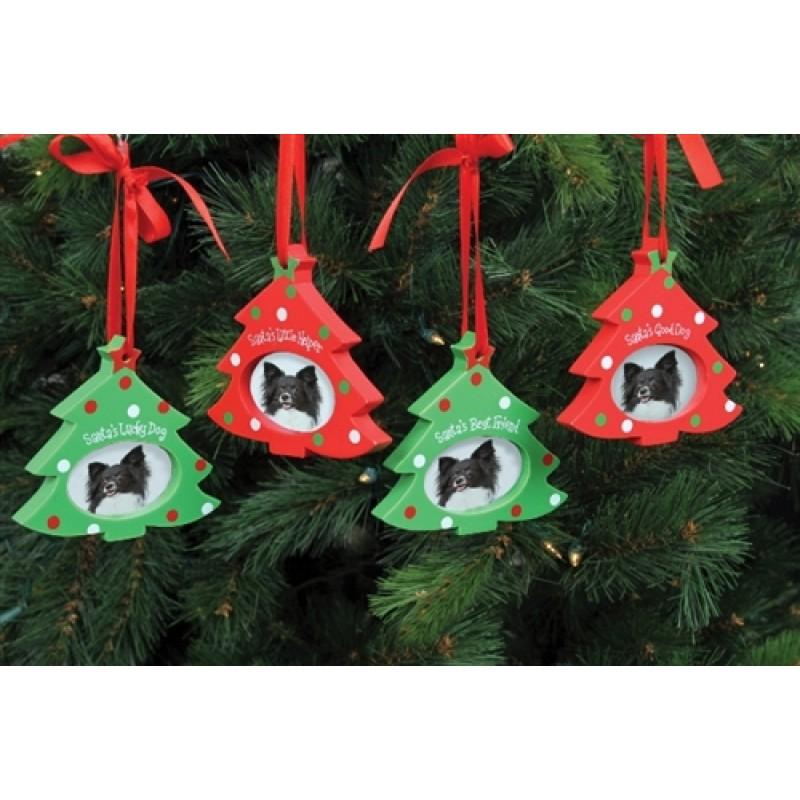 Christmas Tree Gates For Dogs: Dennis East Wood Photo Frame Pet Ornament