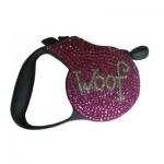 Swarovski Crystal Fashion Dog Leash - WOOF!