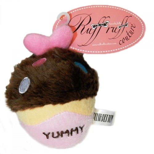 Yummy Chocolate Cupcake by Ruff Ruff Couture - Plush Toy for Dogs