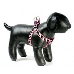 Zebra on Pink Adjustable Step-in Dog Harness