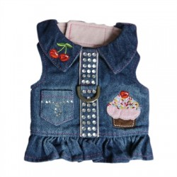Cute Cupcake Denim Harness
