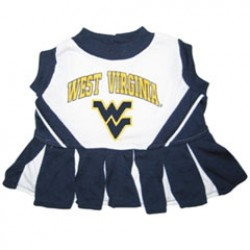 West Virginia Mountaineers Cheerleader Dog Dress
