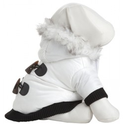 Winter White Designer Parka for Dogs