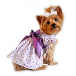 Wisteria Lavender Floral Dress for Dogs