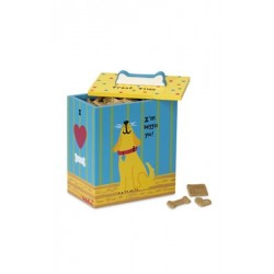 Yellow Dog Treat Box - Hand Painted Collection