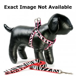 Zebra on Red Adjustable Step-in Dog Harness
