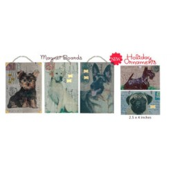 Vintage Post Card Magnet Boards and Holiday Ornaments
