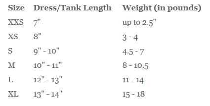 RRC Size Chart